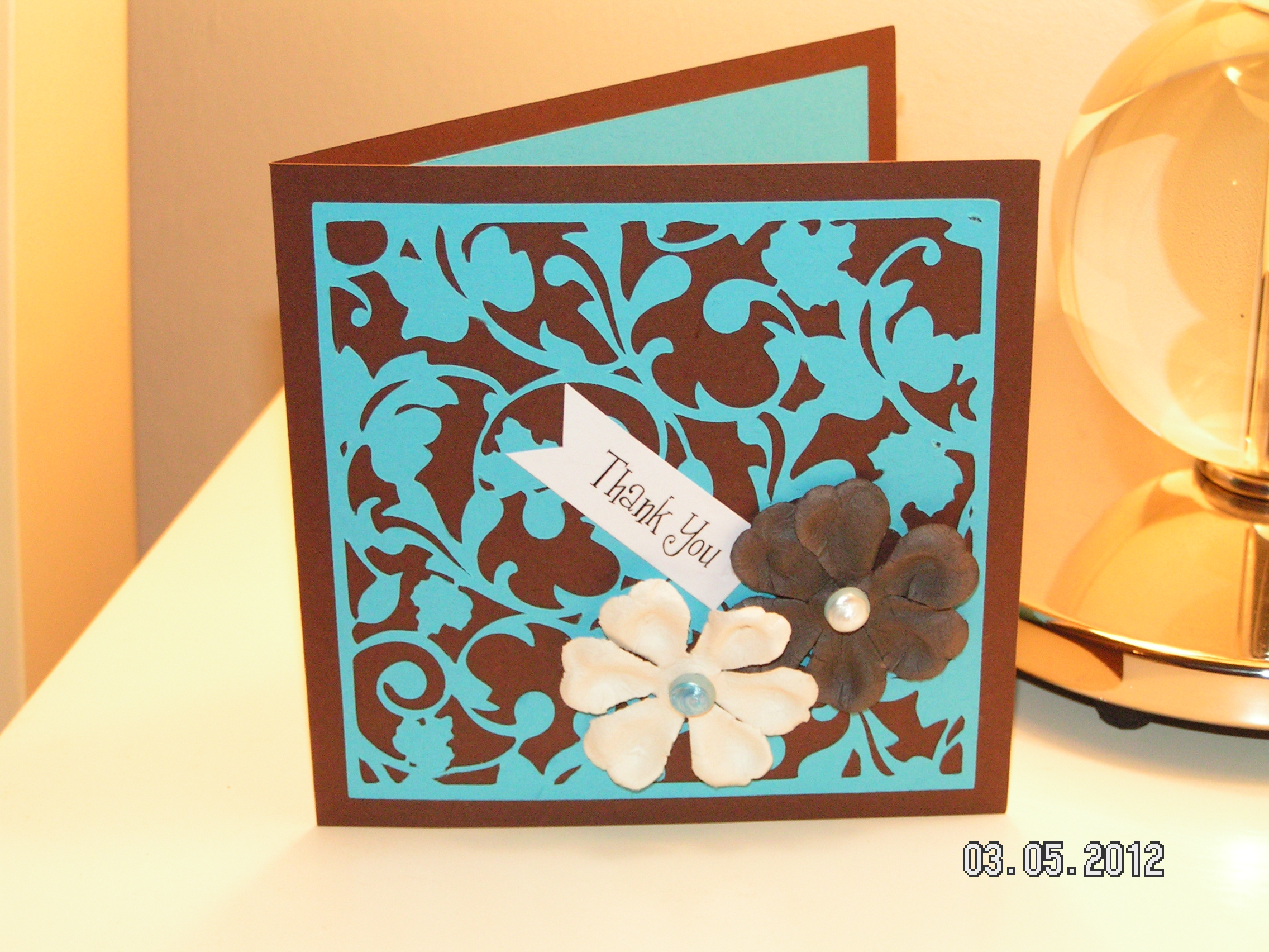 filigree thank you card straight from the nest southern cricut lady