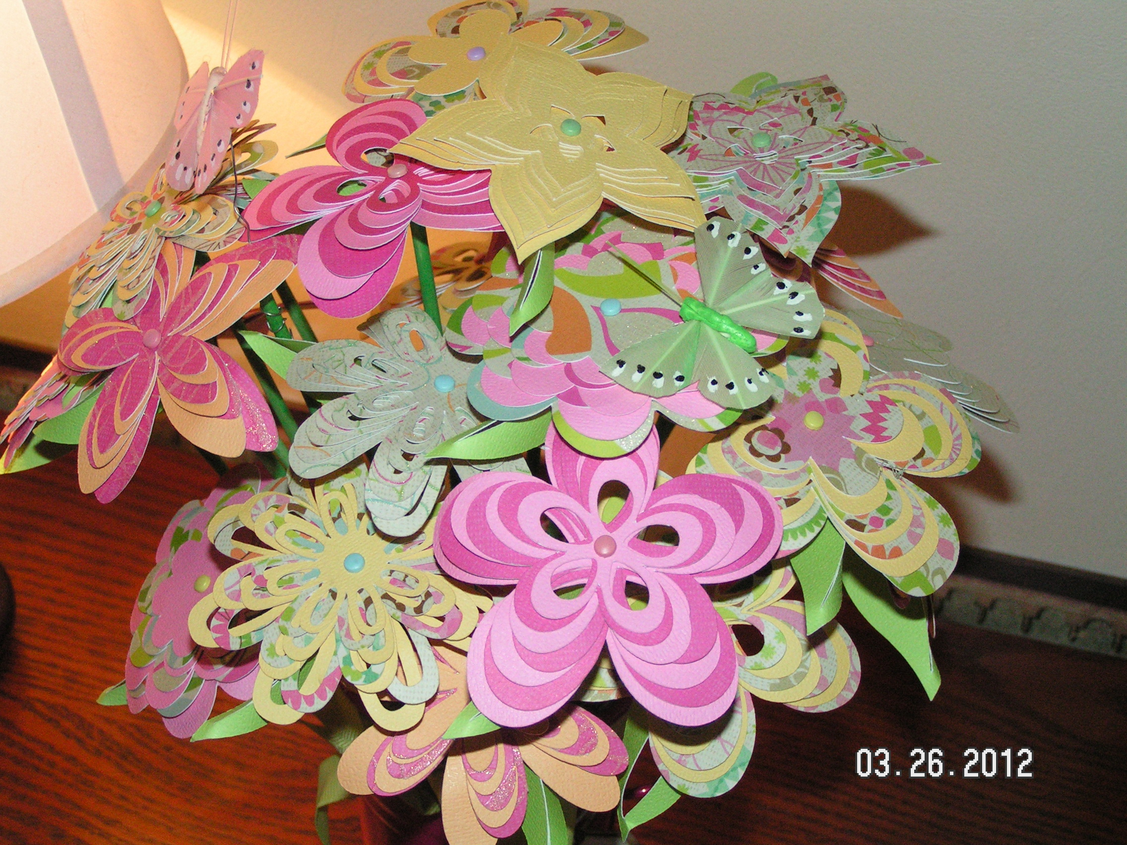Paper Flower Bouquet With Birthday Card Southern Cricut Lady