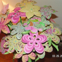 Paper Flower Bouquet with Birthday Card