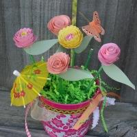 Summer Bouquet of Spiral Roses