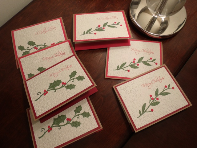 Set of Embossed Christmas Cards