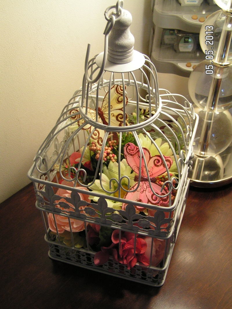 Bird Cage Flower Arrangement