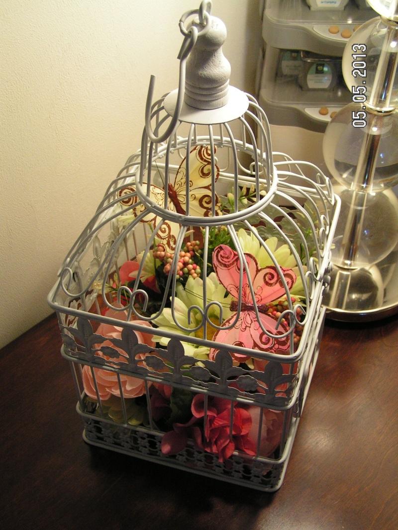 Bird Cage Flower Arrangement