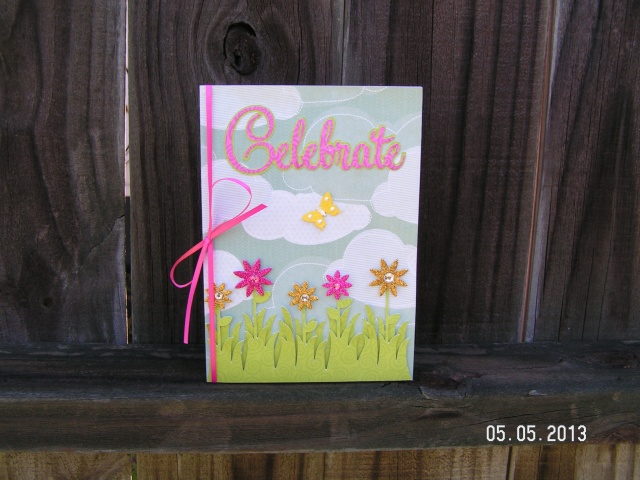 Pinky, Sparkly Birthday Card