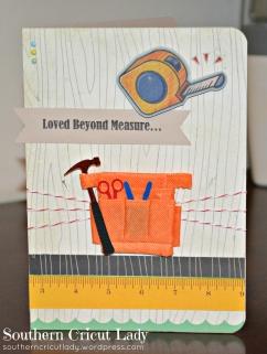 Loved Beyond Measure - hubby's birthday card