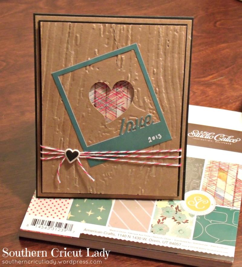 Studio Calico Polaroid frame; Cricut Sweethearts heart